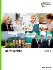Jahresbericht der Ärztekammer Nordrhein 2013