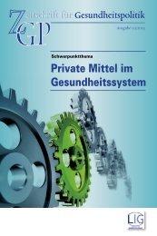 Private Mittel im Gesundheitssystem - Ärztekammer Oberösterreich
