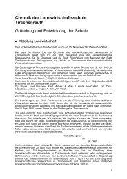 Gründung und Entwicklung - Amt für Ernährung, Landwirtschaft und ...
