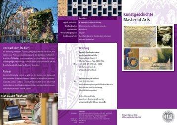 Kunstgeschichte Master of Arts  - Philosophische Fakultät ...