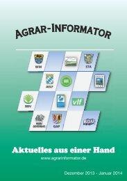Ausgabe Dezember 2013 - Amt für Ernährung, Landwirtschaft und ...