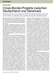 Cross-Border-Projekte zwischen Deutschland und Dänemark