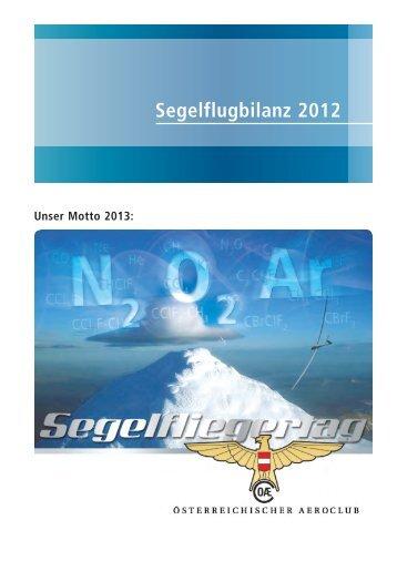 Segelfliegerbilanz 2012 - Österreichischer Aero-Club