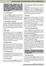 Zur Vertragspraxis zugelassene - Schleswig-Holsteinisches Ärzteblatt