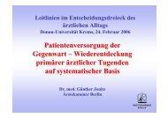 Patientenversorgung der Gegenwart – Wiederentdeckung primärer ...