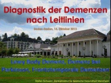 Diagnostik der Demenzen nach Leitlinien