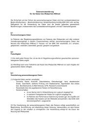 Datenschutzerklärung - Landesärztekammer Baden-Württemberg