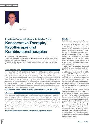 Hypertrophe Narben und Keloide in der täglichen Praxis