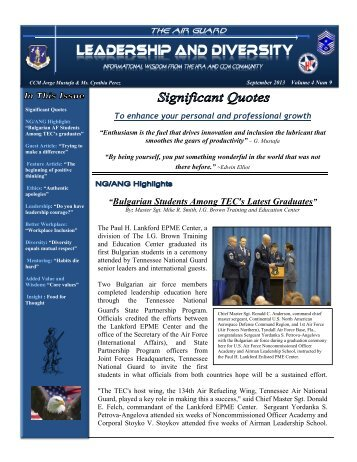 Leadership and Diversity Newsletter September - Air Force Link