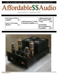 Issue Number 57: September 2010 - Affordable$$Audio