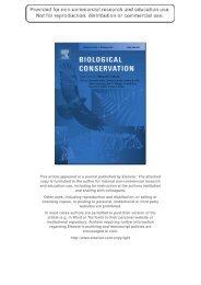 Delvaux et al 2010_Biological Conservation.pdf - Royal Museum for ...