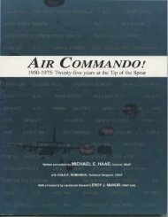 Air Commando!: 1950-1975 - Twenty-five years at the Tip ... - AFSOC