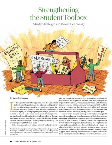 Strengthening the Student Toolbox - American Federation of Teachers