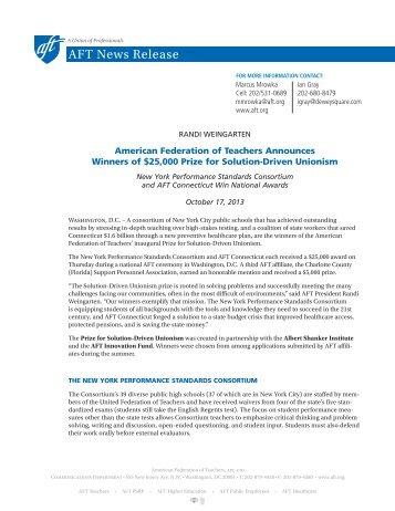 Press Release - American Federation of Teachers