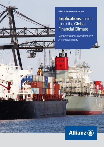 Marine Insurance Considerations in the Global Financial Climate