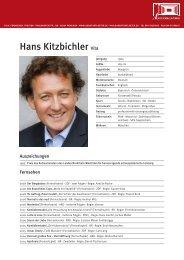 Hans Kitzbichler Vita