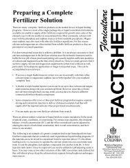 Preparing a Complete Fertilizer Solution - BCMAFF - Agriculture