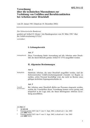 Verordnung über die technischen Massnahmen zur ... - admin.ch