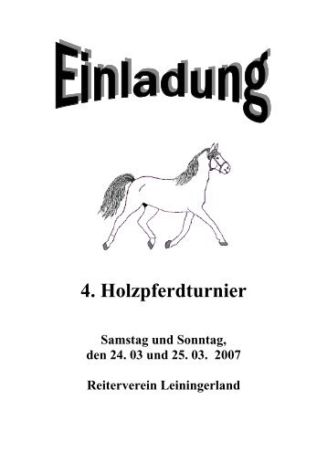 Ausschreibung Holzpferd 2007 - AGPV