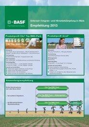 Empfehlung 2013 - BASF Pflanzenschutz Deutschland