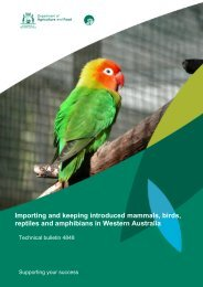 Importing and keeping introduced mammals, birds, reptiles and ...