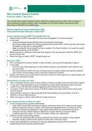 WA Livestock Disease Outlook - April 2013 - Agric.wa.gov.au