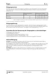 Düngung bei Raps - agrigate.ch