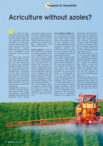 article 02: Fungicides: What a ban on azoles would ... - agriFuture