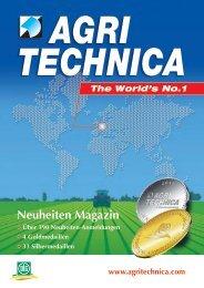Neuheiten Magazin - Agritechnica