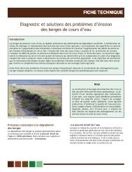FICHE TECHNIQUE Diagnostic et solutions des ... - Agri-Réseau
