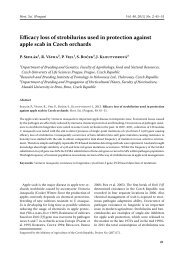 Efficacy loss of strobilurins used in protection against apple scab in ...