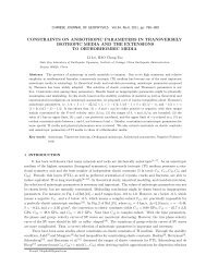 constraints on anisotropic parameters in transversely isotropic ...