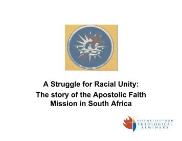A South African Case Study in Church Unity