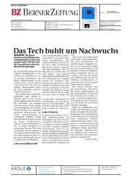 Das Tech buhlt umNachwuchs - AHB - Berner Fachhochschule