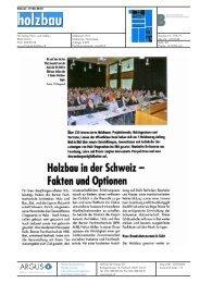 Holzbau in der Schweiz Fakten und Optionen - Hochschule für ...