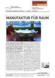 manufaktur für raum - Hochschule für Architektur, Holz und Bau AHB ...