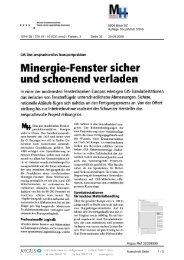 Minergie-Fenster sicher