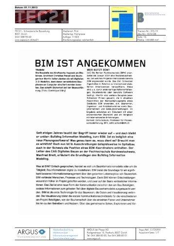 bim ist angekommen - Hochschule für Architektur, Holz und Bau AHB