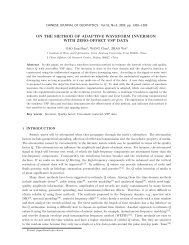 on the method of adaptive waveform inversion with zero-offset vsp ...