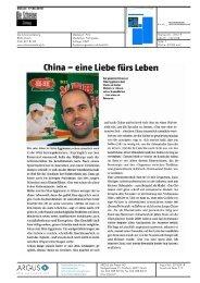 China -eine Liebe fürs Leben - Berner Fachhochschule