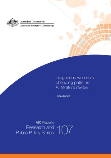 Indigenous women's offending patterns - Australian Institute of ...
