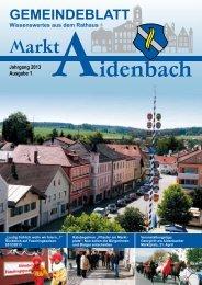 Gemeindeblatt Nr. 1/2013 - Markt Aidenbach