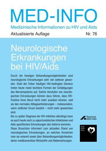 Neurologische Erkrankungen bei HIV/Aids - Deutsche AIDS-Hilfe e.V.