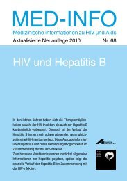Med-Info HIV und Hepatitis B - Deutsche AIDS-Hilfe e.V.