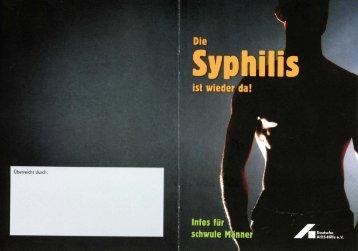 Die Syphilis ist wieder da - Deutsche AIDS-Hilfe e.V.