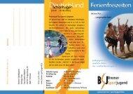 Ferienfreizeiten Flyer 2012 - Bremer Sportjugend
