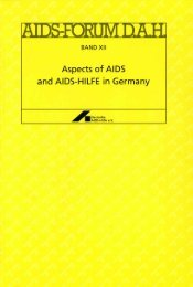 Aspects of AI DS and AIDS-HILFE in Germany - Deutsche AIDS-Hilfe e.V.