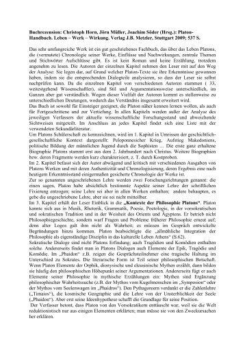 Buchrezension: Christoph Horn, Jörn Müller, Joachim Söder (Hrsg ...