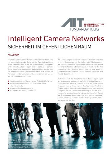 Intelligent Camera Networks - AIT Austrian Institute of Technology