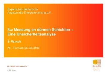 3ω Messung an dünnen Schichten – Eine Unsicherheitsanalyse